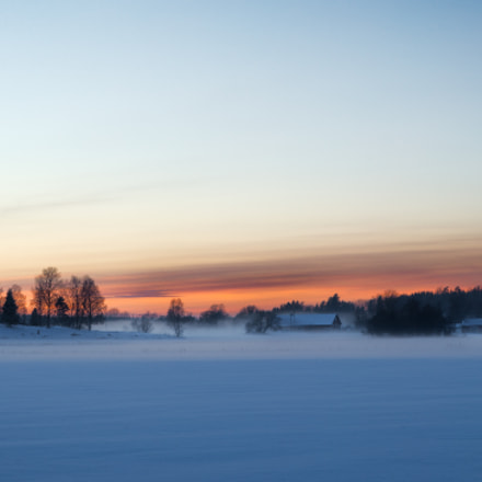 Sunset in winter, Canon EOS-1D X