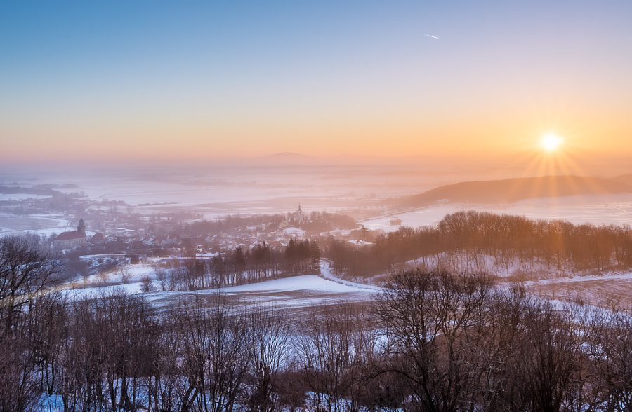 Sunrise in Lower Silesia