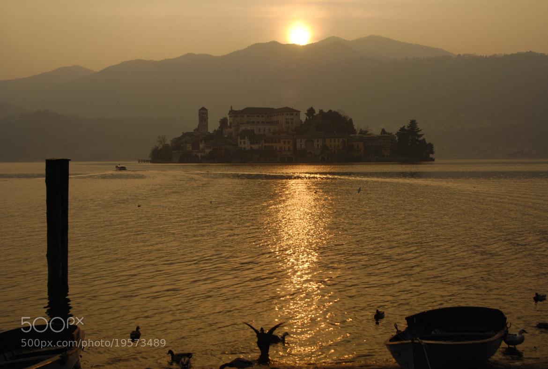 Photograph Isola di San Giulio al tramonto by Dario Cuccato on 500px
