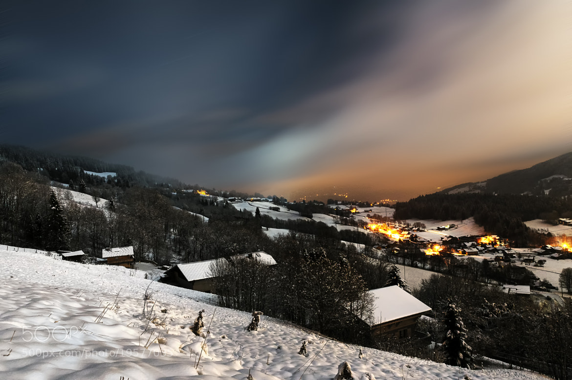 Photograph Megève by Night by Vincent Charvet on 500px