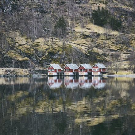 Cottages in Flåm, Norway