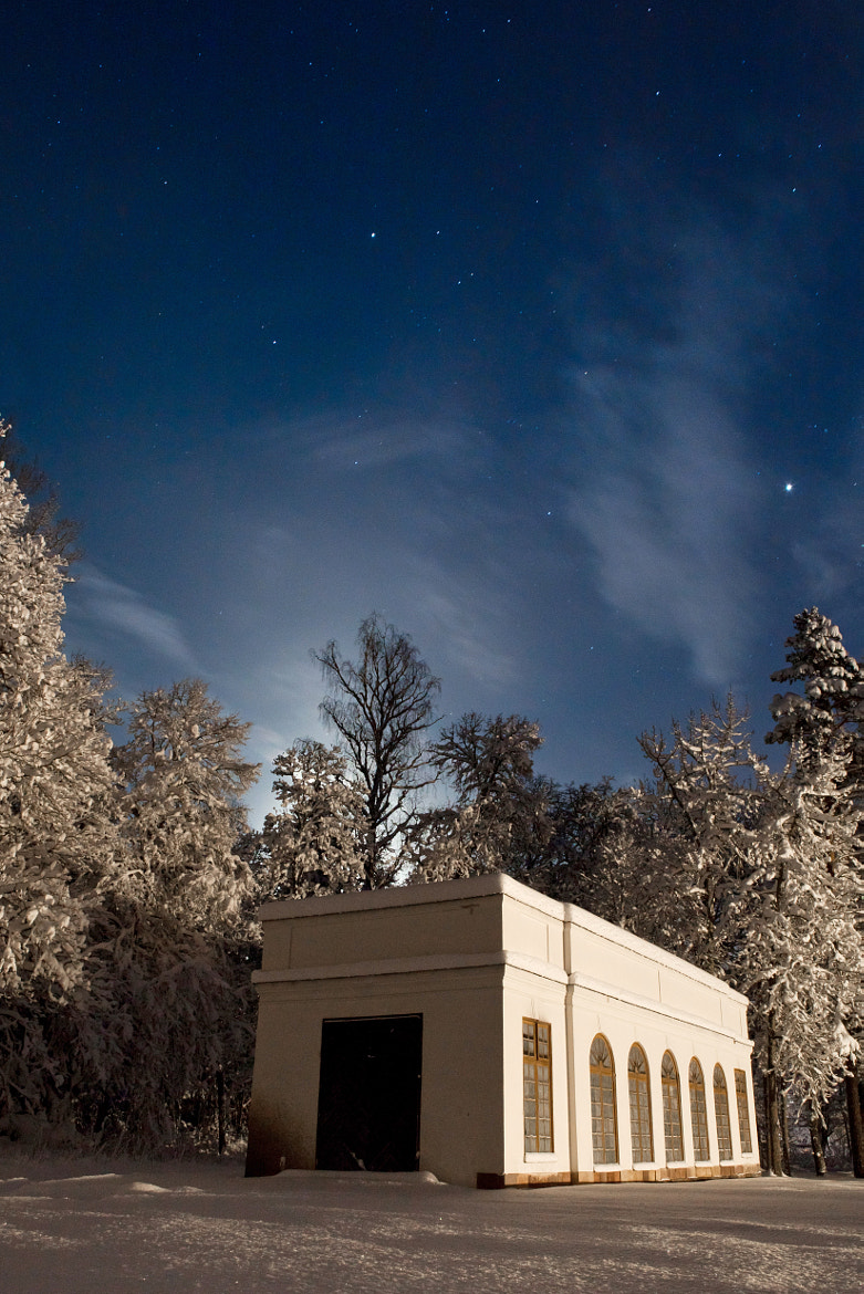 Photograph Snowy building at night by Jens Eklund on 500px