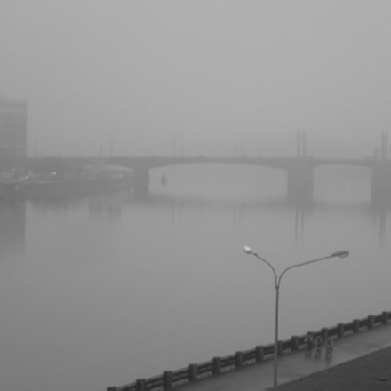 Bridge in fog, Panasonic DMC-LC50