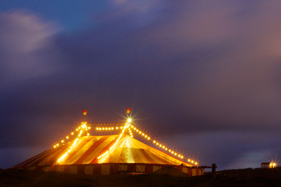 This was a circus tent setup for a movie on Noronha.