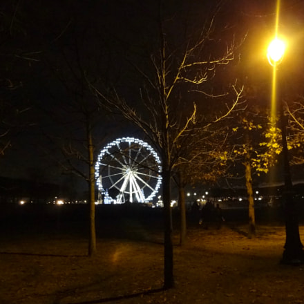 Paris,tuileries,lanuit, Sony DSC-WX7