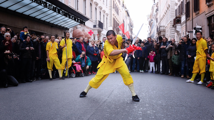 Monk athlete performs with the sword by Gennaro Leonardi on 500px.com