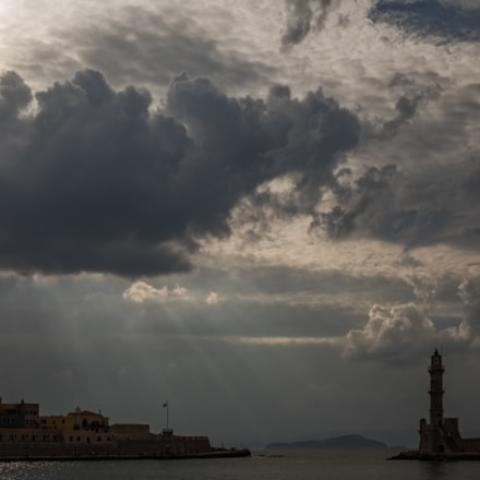 Clouds over Chania, colour version
