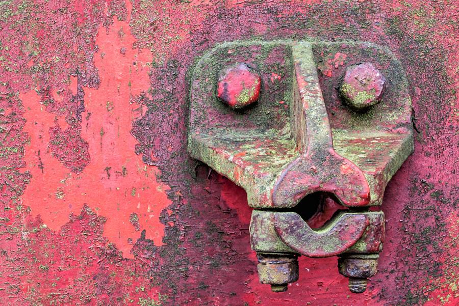 It's a face