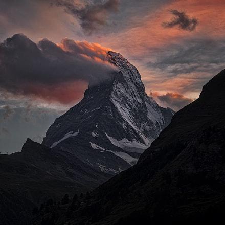 Matterhorn on fire