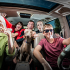 My neighbors requested that I do their annual Christmas card and it was a blast as usual.   Lighting setup: 2 SB700 on the sides and 1 SB600 with a small soft box  shooting through the sunroof.