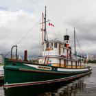 """A three-shot vertical panorama, or vertorama, of the Steam Ship Master — three portrait-oriented shots, stitched and corrected for distortion in Photoshop.  The SS Master, pictured here at the Vancouver Maritime Museum docks, is the sole remaining wooden hulled, steam powered tugboat of her type in North America.  """"From 1922 to 1959, the Master towed logs and barges in Georgia Strait and beyond, steaming over a million miles. She has seen many ports on the Pacific Coast, from Alaska to San Francisco. Laid up in 1959, she was bought in 1962 for $500, to be restored as a memorial to the men of the BC towing industry.""""   Many hundreds of hours are put in each year by volunteer crew members of the SS Master Society to preserve this important piece of  British Columbia's maritime past.  More info here: http://ssmaster.org/about-us/"""
