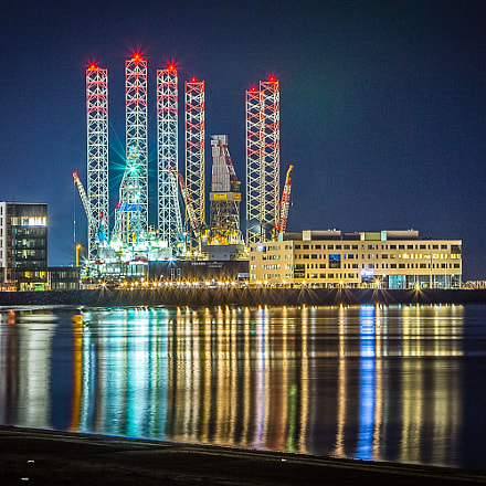 Night at Esbjerg Harbour