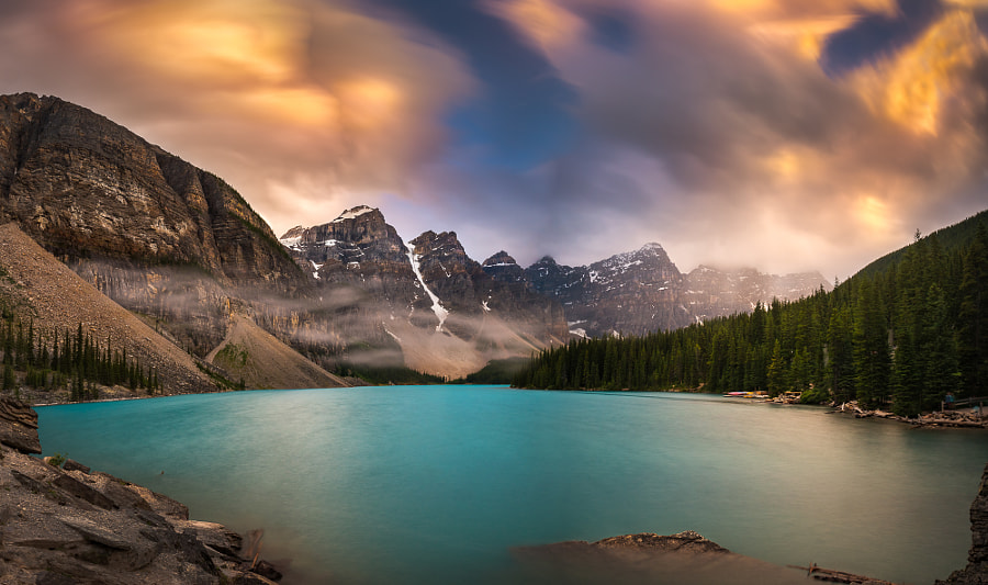 More Rain at Moraine Lake by William Lee on 500px.com