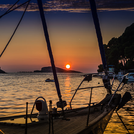 Sunset in Cavtat, Sony SLT-A35, Sony DT 50mm F1.8 SAM (SAL50F18)