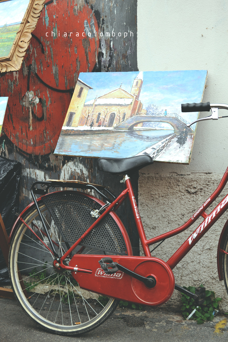 Photograph 50's  r e d  bicycle by Chiara Colombo on 500px