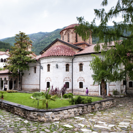 Landscaped courtyard of Bachkovo Monastery