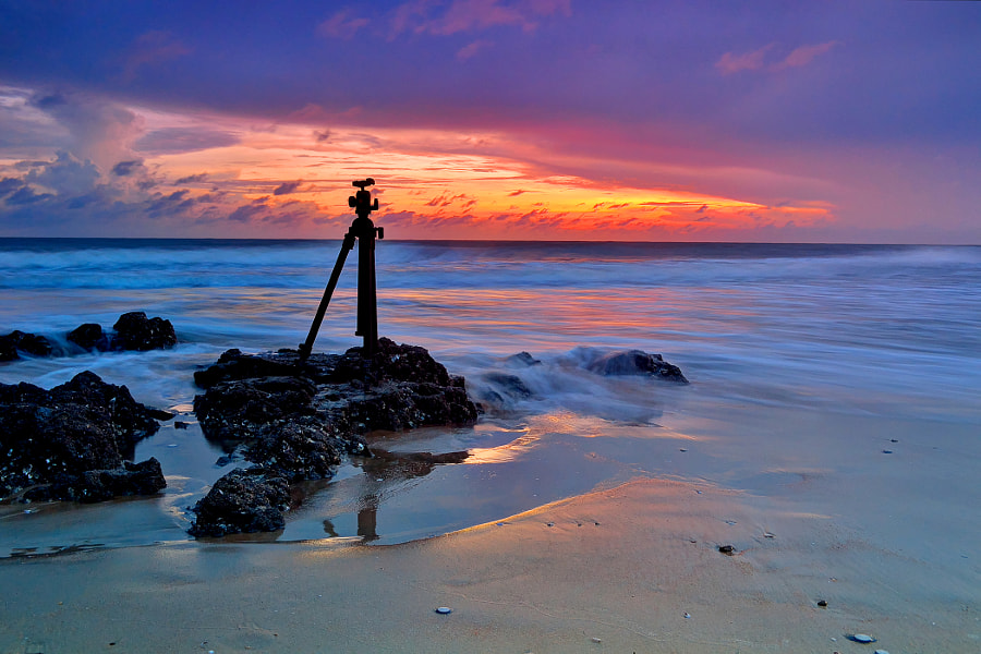 Photograph The tripod and sunset by Duc Vien on 500px