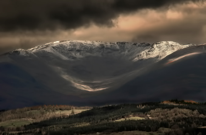 Photograph Snowy valley by Richard Tierney on 500px