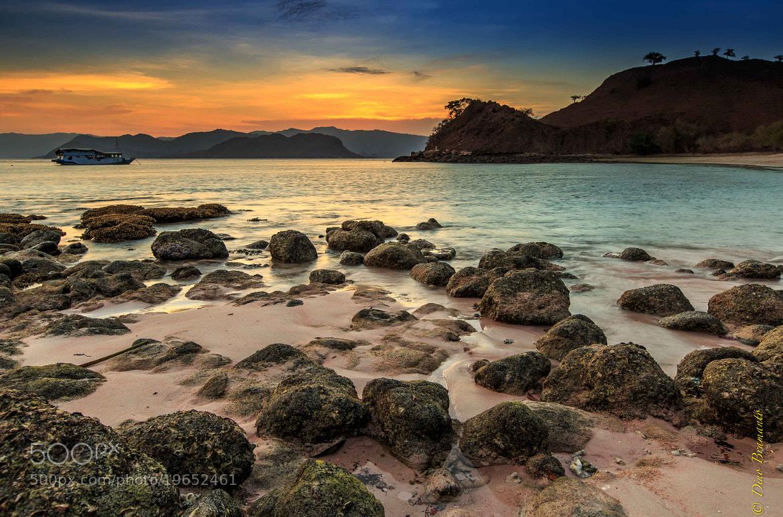 Photograph Sunset at Pinky Beach, Komodo Island, Indonesia by Dino Bramanto on 500px
