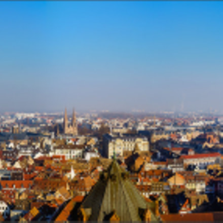 Strasbourg city aerial view, Sony SLT-A99, Tamron SP AF 28-75mm F2.8 XR Di LD Aspherical IF