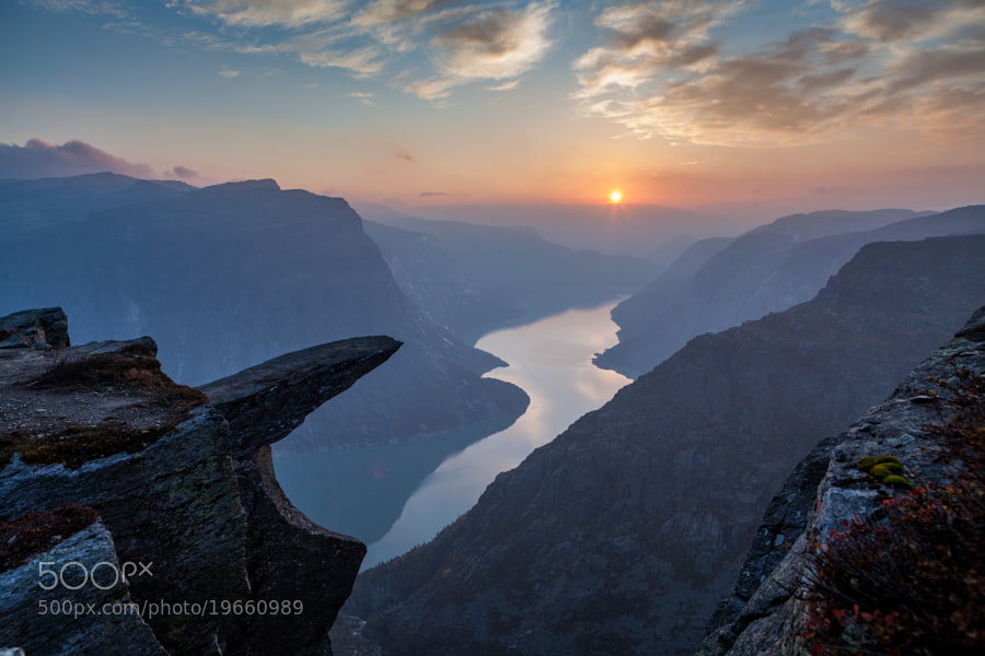 Trolltunga sunset by Dag Endre Opedal on 500px.com