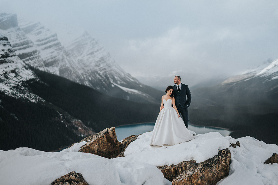 Wedding photography - misty mountain top by Carey Nash on 500px.com