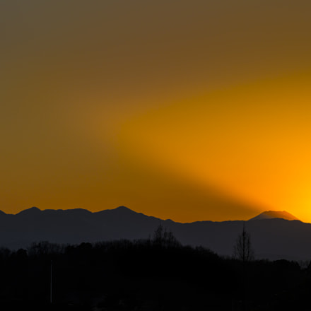 Sunset Mt Fuji, Pentax 645D, smc PENTAX-FA 645 80-160mm F4.5