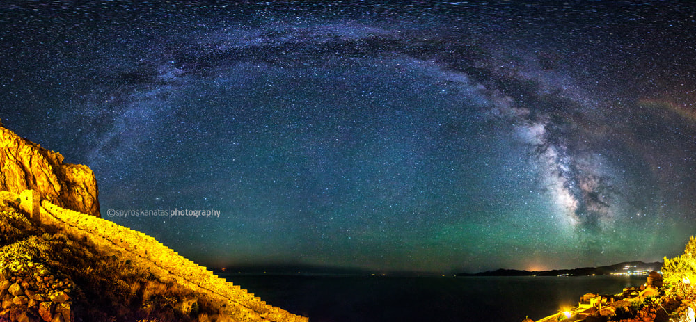 Photograph panorama of milky way. by spyros kanatas on 500px