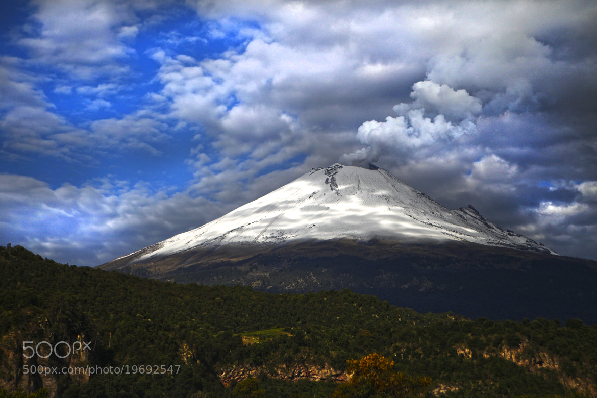 Photograph Popocatepetl smoking with clouds by Cristobal Garciaferro Rubio on 500px