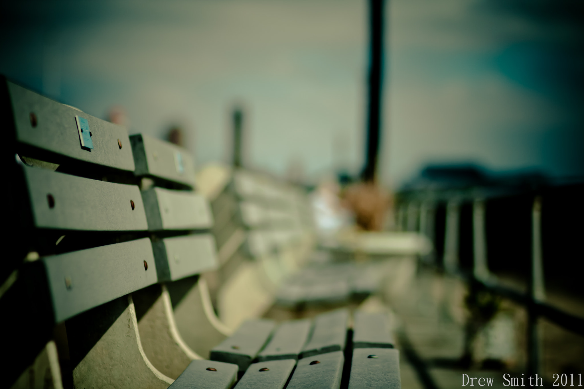 Photograph Park Bench on the Boardwalk by Drew Smith on 500px