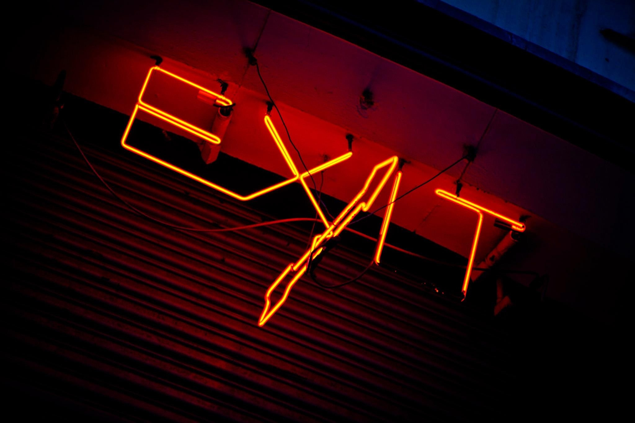 Photograph Exit Sign by Sheldon Steere on 500px