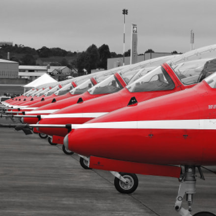 Red Arrows lined up, Sony DSC-WX100