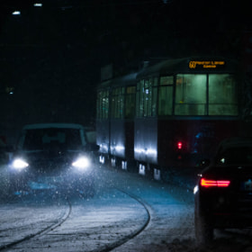 Photograph snowTraffic by Lukas Bachschwell