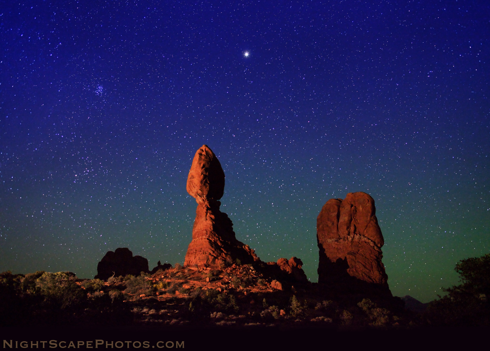 Photograph Jupiter over Balanced Rock by Royce's NightScapes on 500px