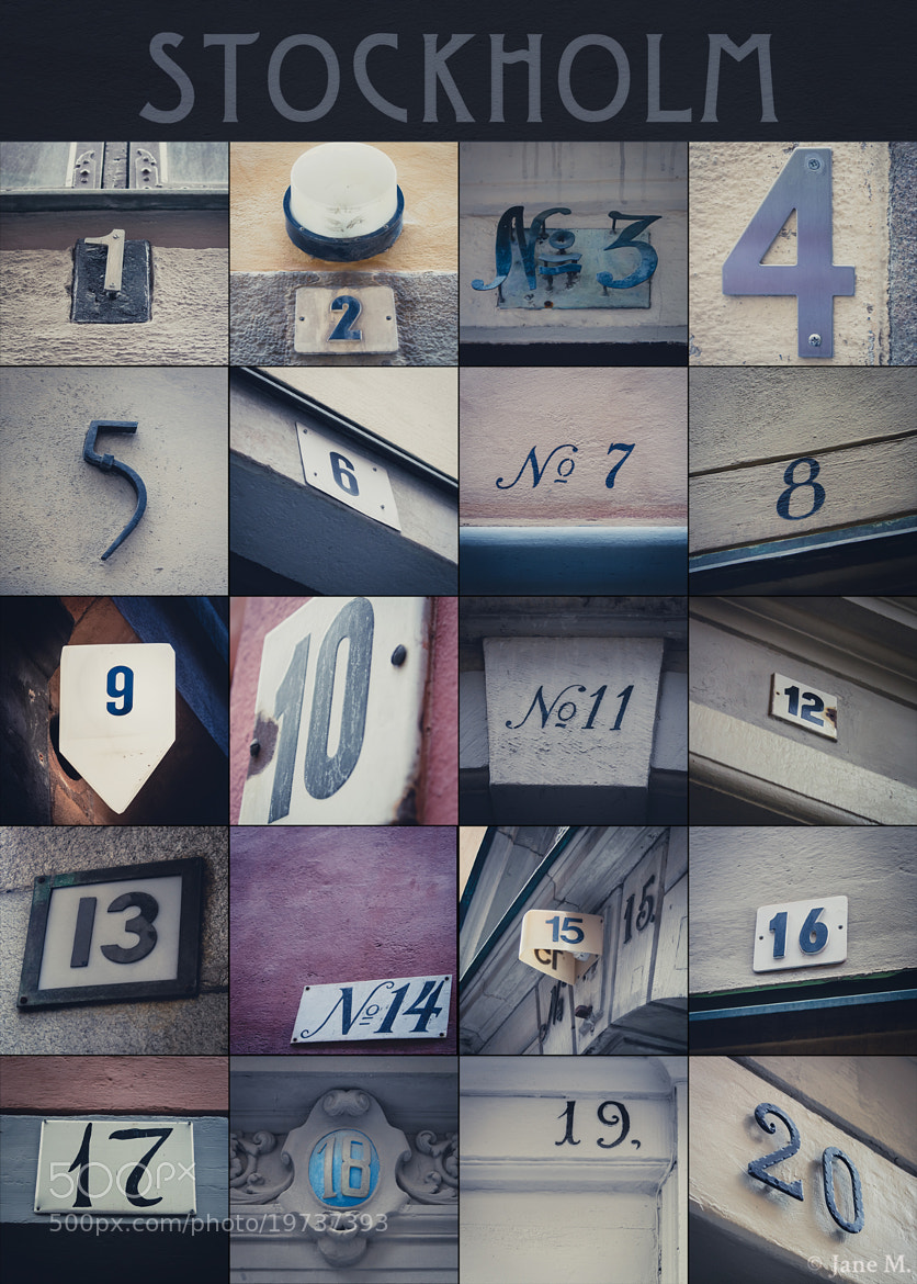 Photograph Stockholm in Numbers by Jane Terekhov on 500px