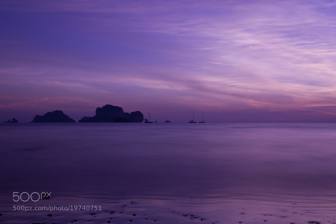 Photograph Sunset at Railay Beach by Olga Bakulina on 500px