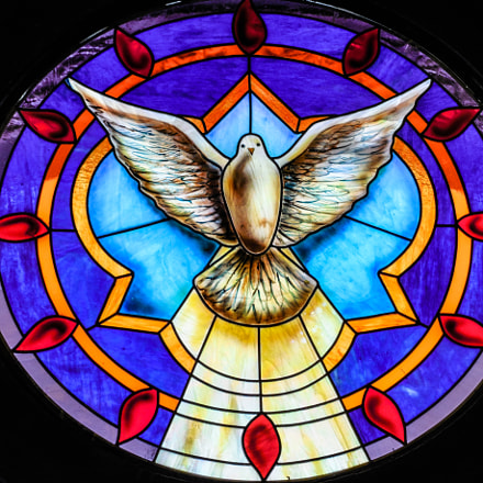 dove messenger stained glass, Nikon COOLPIX L620