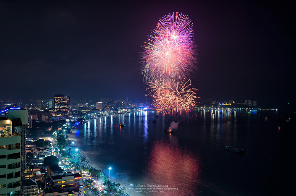 Photograph Fireworks in Pattaya City by Phattana Sangsawang on 500px