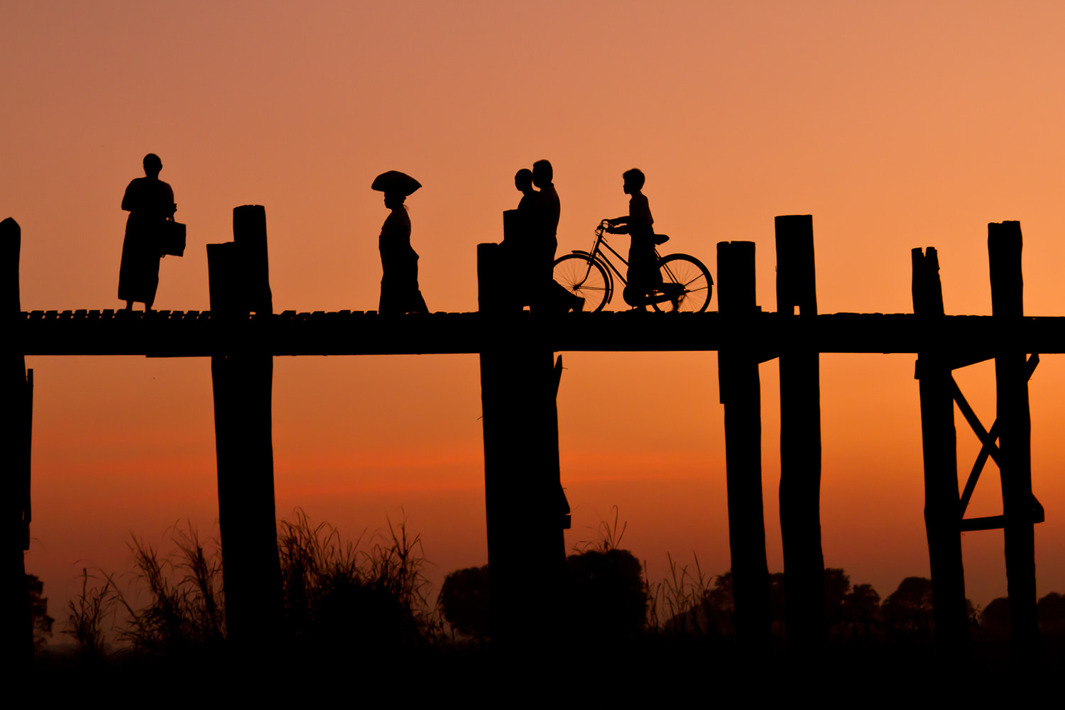 Photograph Sunset at U-bein Bridge (Myanmar) by Olga Bakulina on 500px