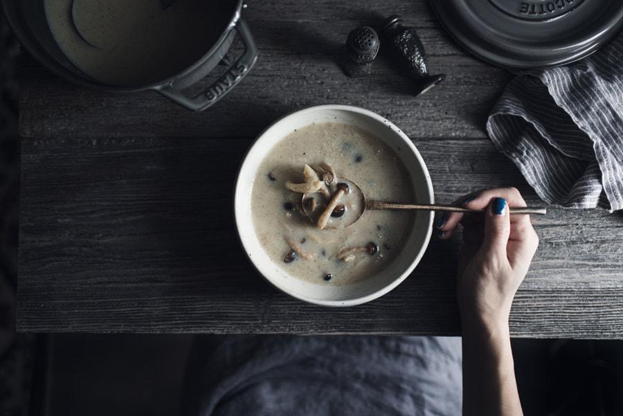 shimeji mushroom soup. by Miki Fujii on 500px.com