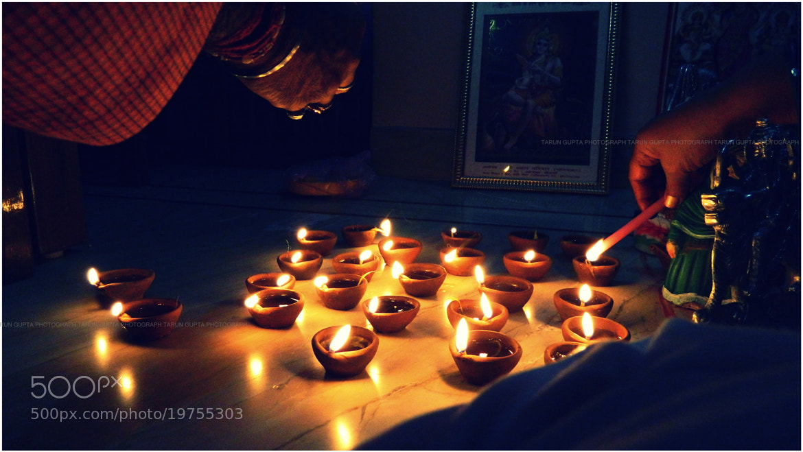 Photograph Gleam of Diyas by Tarun Rock on 500px