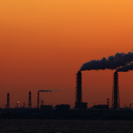 Sunset with Factories, Canon EOS KISS X4