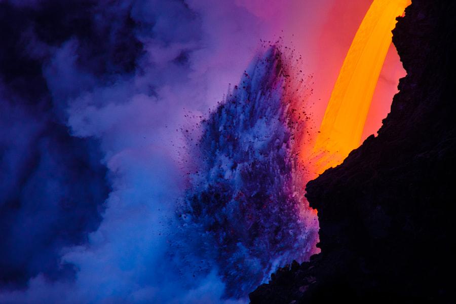 Big Island Lava Flow by James Rubio