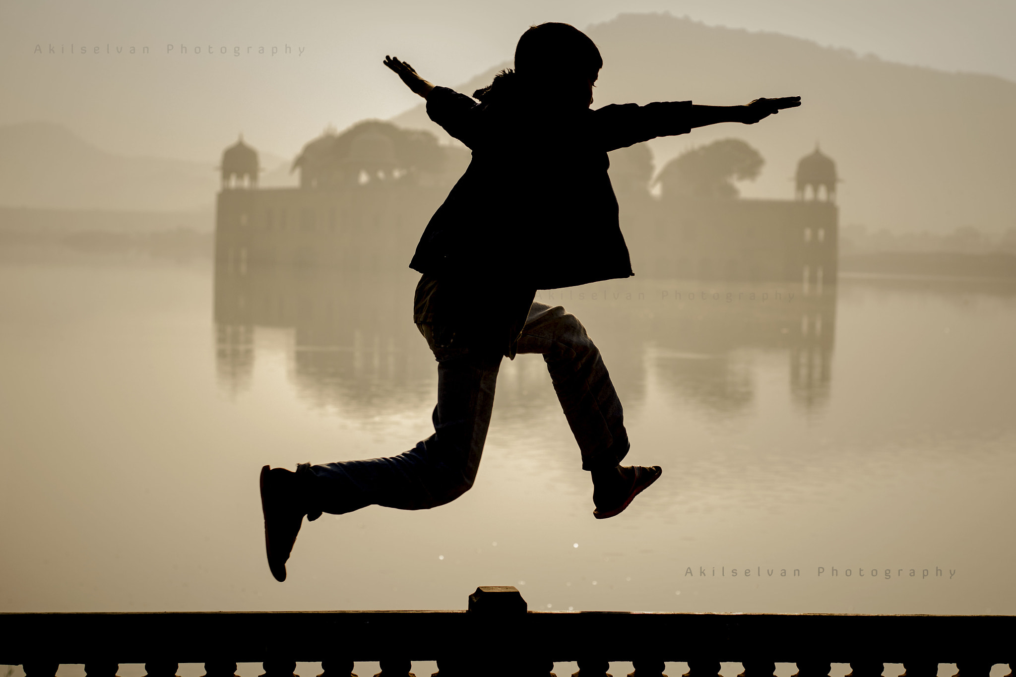Photograph Jump Into Jal Mahal by Akilan Ramalingam Thamaraiselvan on 500px