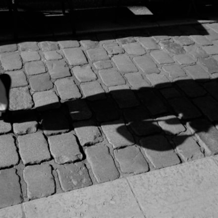 woman 's bag shadow, Fujifilm FinePix Z30