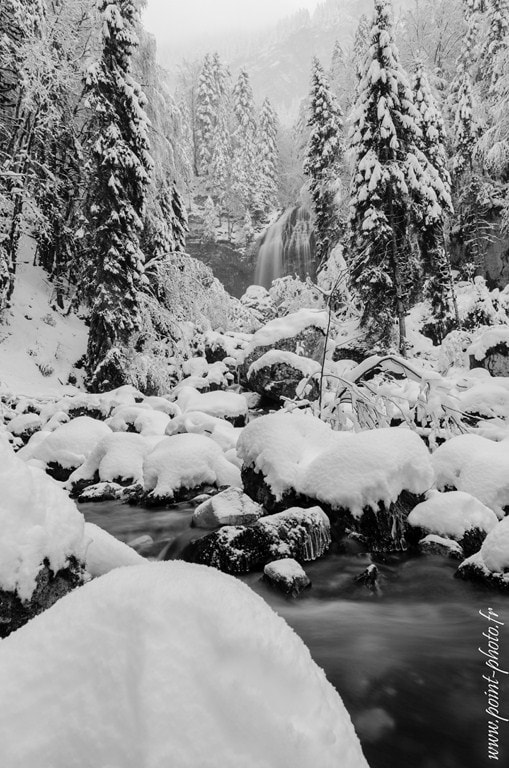 Photograph Waterfall & snow (Chartreuse) by Jeremy Chieppa on 500px