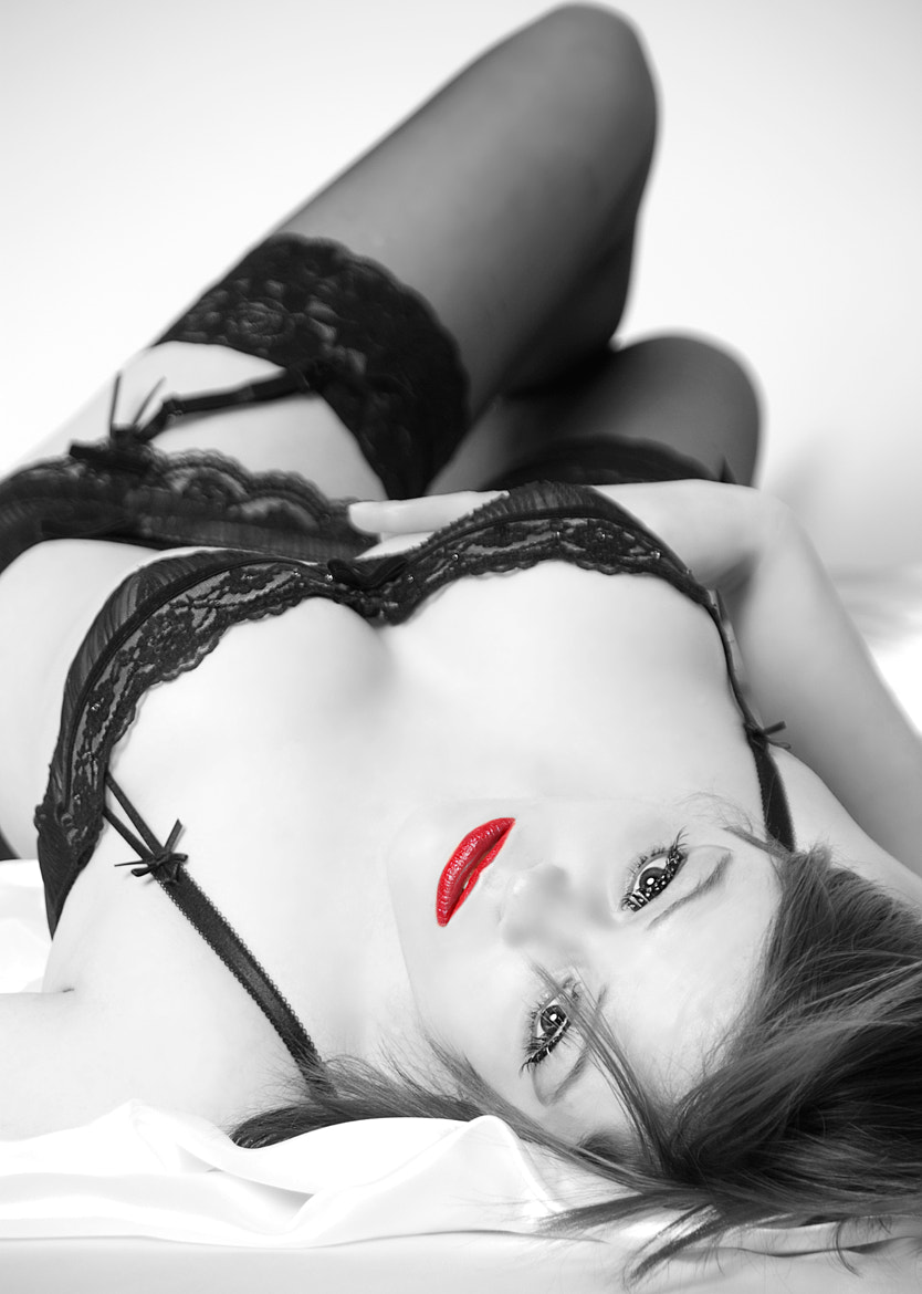 Photograph Lingerie Red by Michael Hesseler on 500px