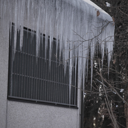 Icicles on a roof, Canon POWERSHOT G7