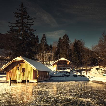 boat house Fuschlsee Jänner