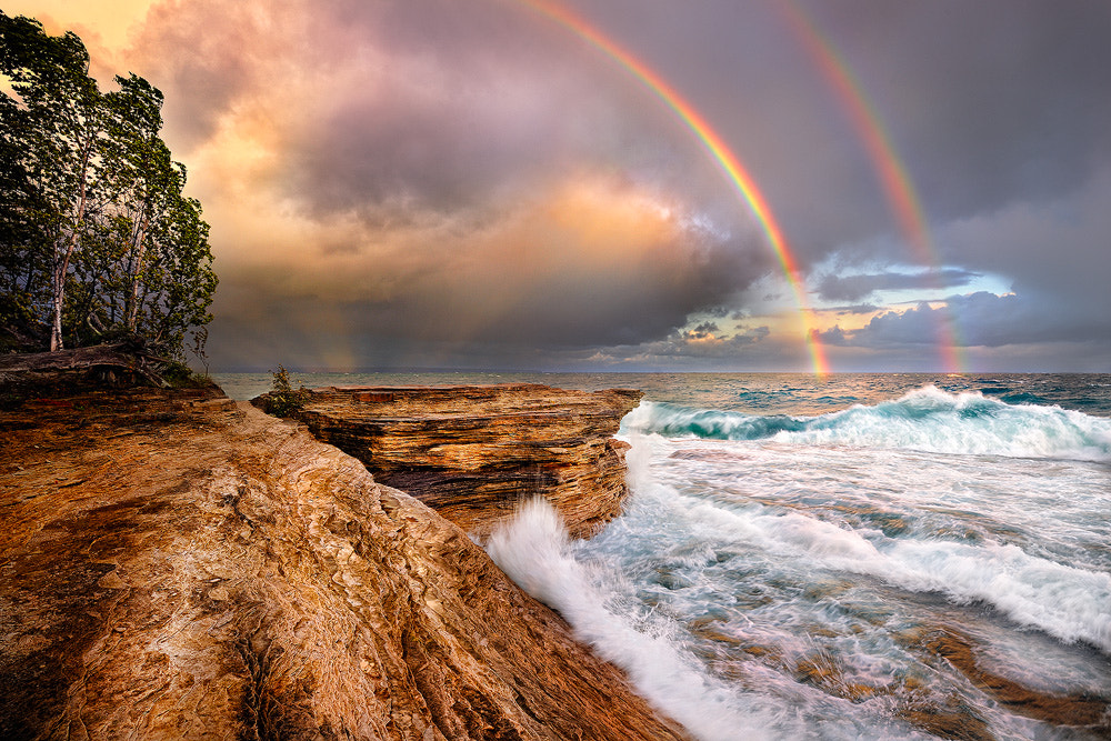 Photograph Mosquito Beach Stormy Rainbows by Steve Perry on 500px
